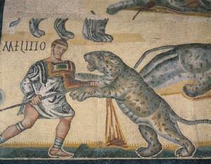 gladiatori-combattimento-mosaico